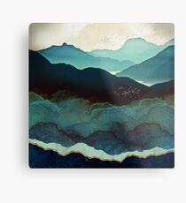 Indigo Mountains Metal Print