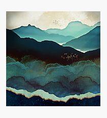 Indigo Mountains Photographic Print