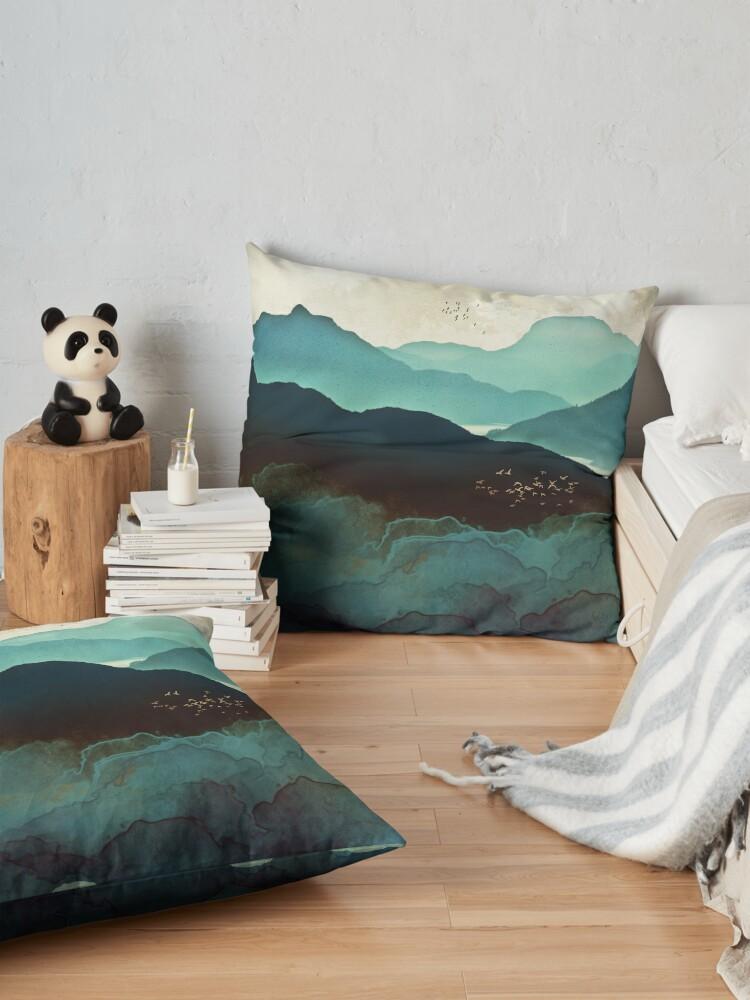 Alternate view of Indigo Mountains Floor Pillow