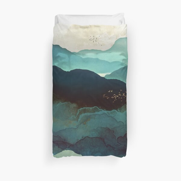 Indigo Mountains Duvet Cover