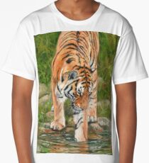 Tiger. Testing The Water Long T-Shirt