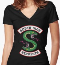 Riverdale - South Side Serpents  Women's Fitted V-Neck T-Shirt