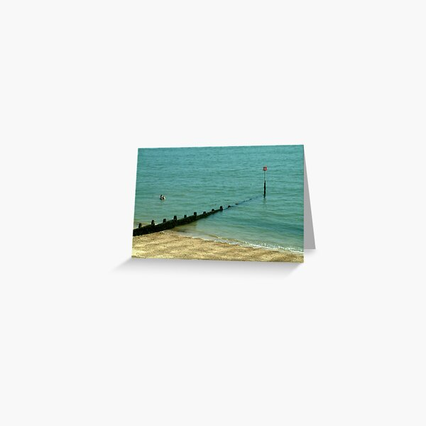 Taking a dip.... Dovercourt, Essex, UK. Greeting Card