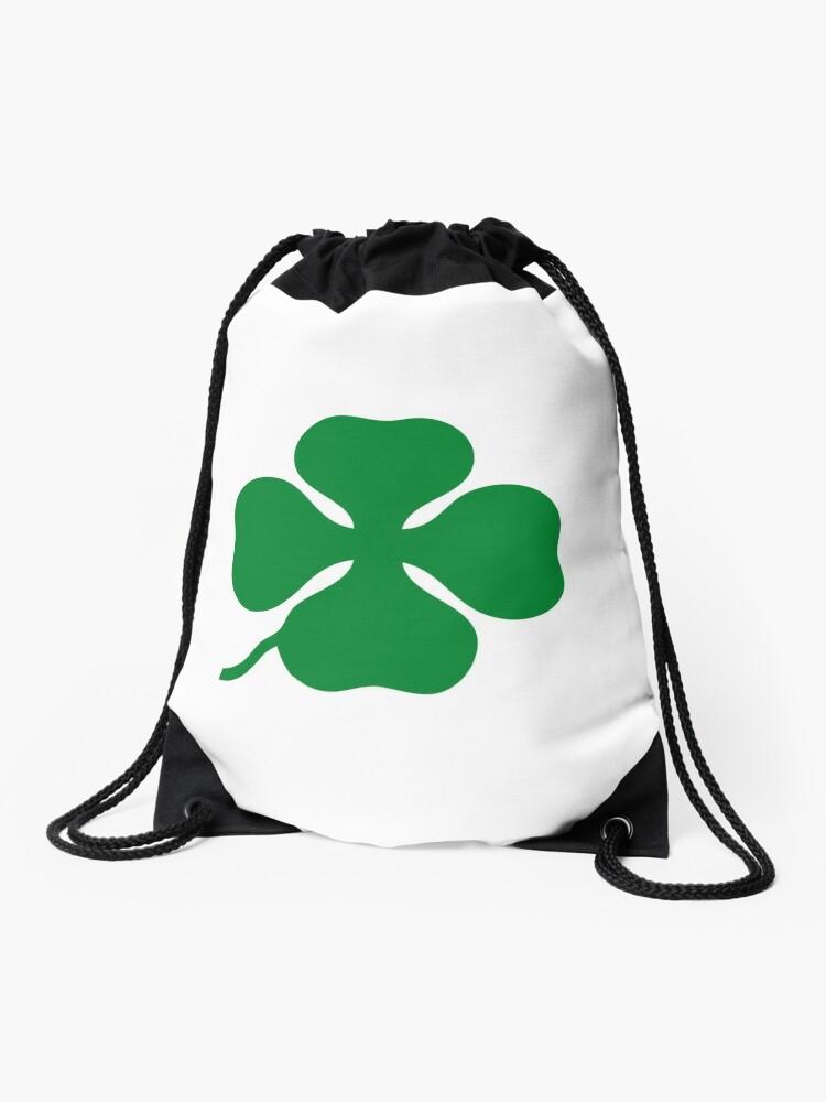 Quadrifoglio Verde Green Drawstring Bag By Jrldesign