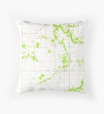 USGS TOPO Map Indiana IN Romney 160234 1961 24000 Throw Pillow