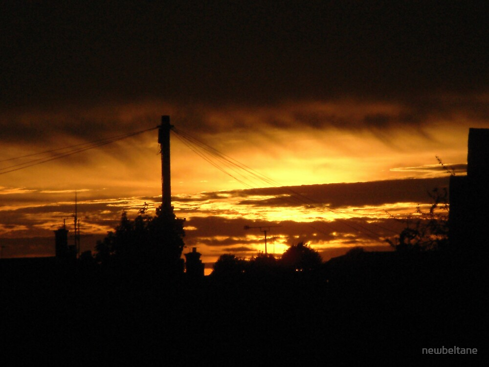 Sky on fire, Colchester, Essex, UK by newbeltane