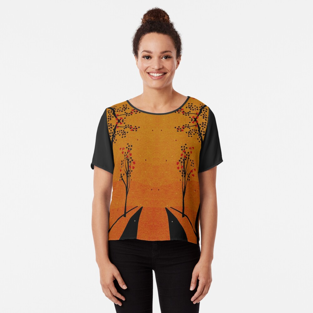Autumn Path (Day) Chiffon Top
