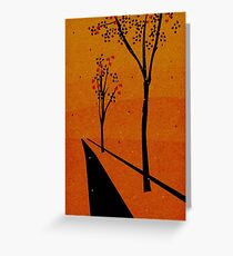 Autumn Path (Day) Greeting Card