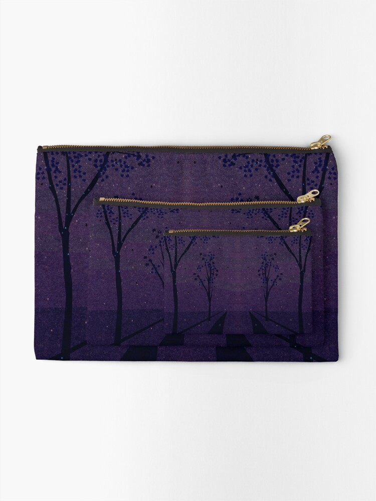 Alternate view of Autumn Path (Night) Zipper Pouch