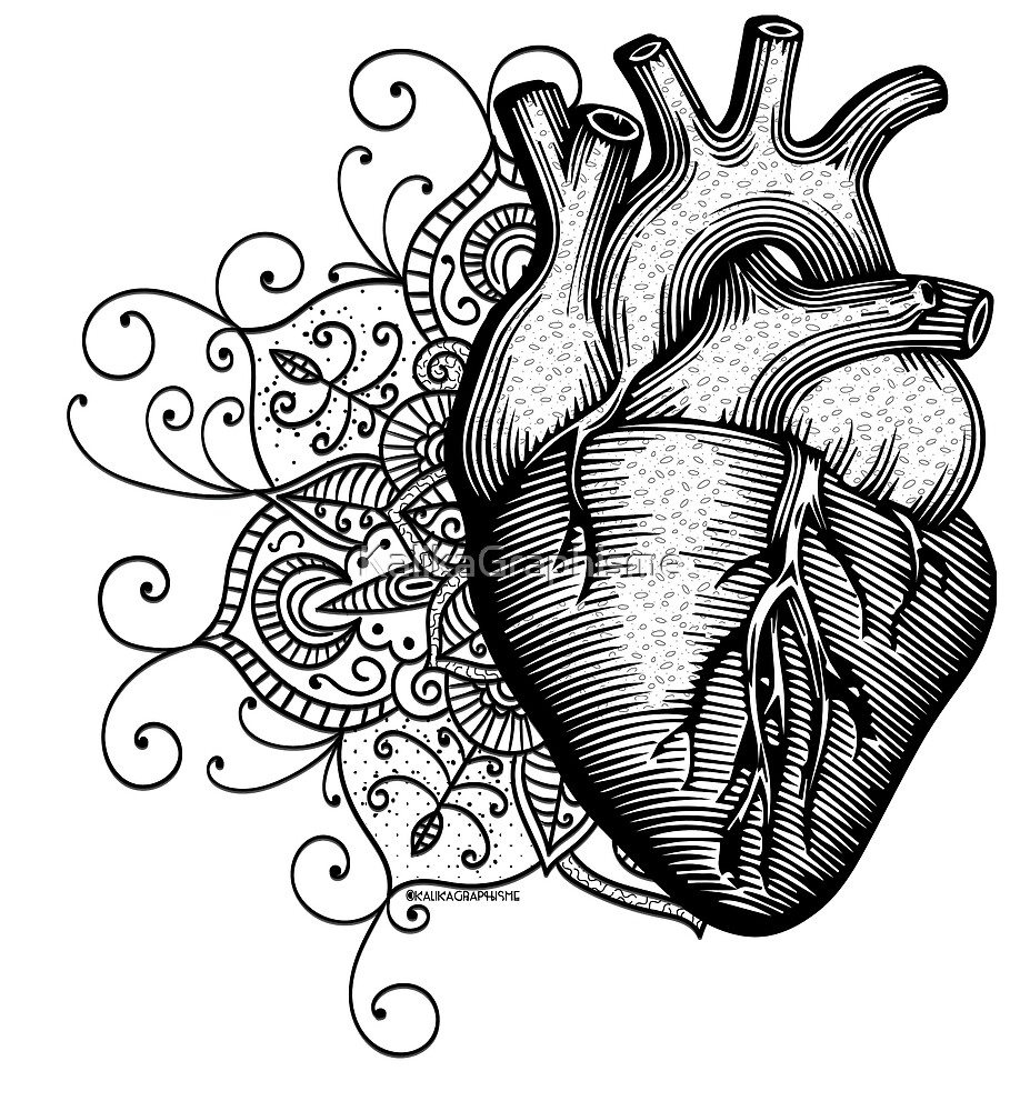 Anatomisches Herz-Mandala\