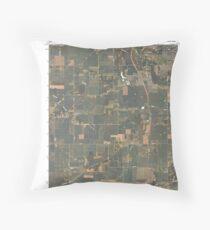 USGS TOPO Map Indiana IN Romney 20100610 TM Throw Pillow