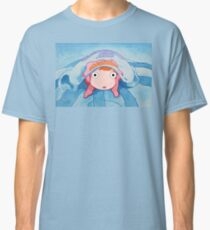 Ponyo on a Jellyfish - Studio Ghibli Classic T-Shirt