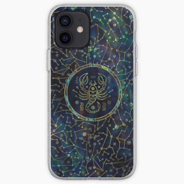 Scorpio Zodiac Gold Abalone on Constellation iPhone Soft Case