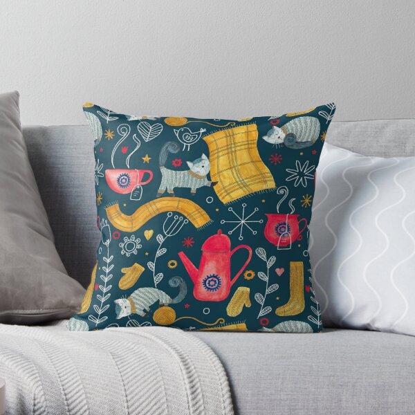 Pattern 71 - Hygge - Cozy winter  Throw Pillow