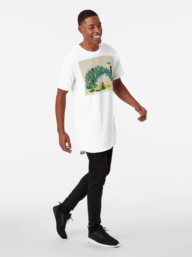 Alternate view of Holiday Catnip Fiasco Long T-Shirt