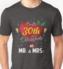 Our 30th Christmas As Mr. & Mrs. Wedding Anniversary T-Shirt