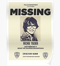 Richie Tozier missing Poster