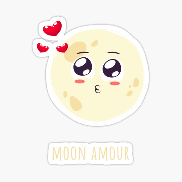 Moon Amour Sticker