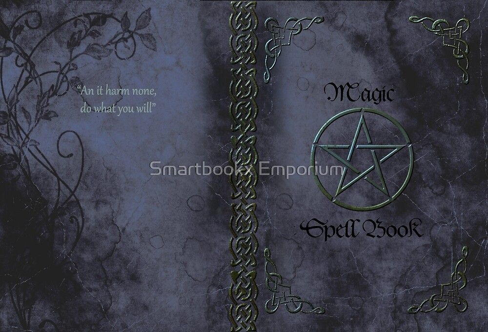 Pentacle Magic Spell Book Phone Cover by Smartbookx Emporium
