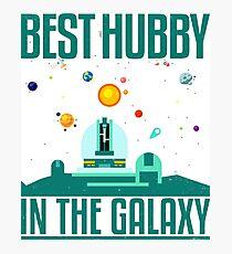 Best Husband in the Galaxy Tshirt original graphic design Photographic Print
