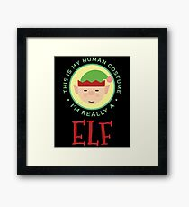 This Is My Human Costume Am Really An Elf Gift For Elf Costume Elf T-Shirt Sweater Hoodie Iphone Samsung Phone Case Coffee Mug Tablet Case Framed Print
