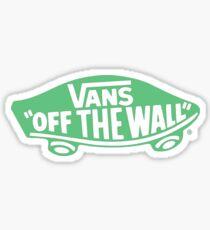 Green Vans Off The Wall Logo Sticker Part 35