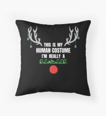 This Is my human Costume A Really A Reindeer Gift For Reindeer Costume Reindeer T-Shirt Sweater Hoodie Iphone Samsung Phone Case Coffee Mug Tablet Case Floor Pillow