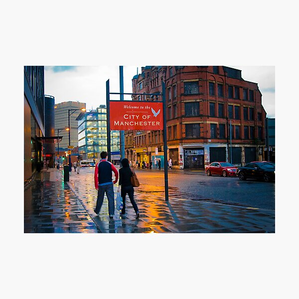 Welcome to Manchester Photographic Print