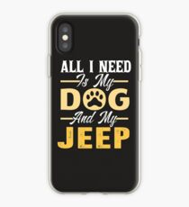 All I Need Is My Dog And MY Jeep-Dog Lover Gift-T-Shirt iPhone Case