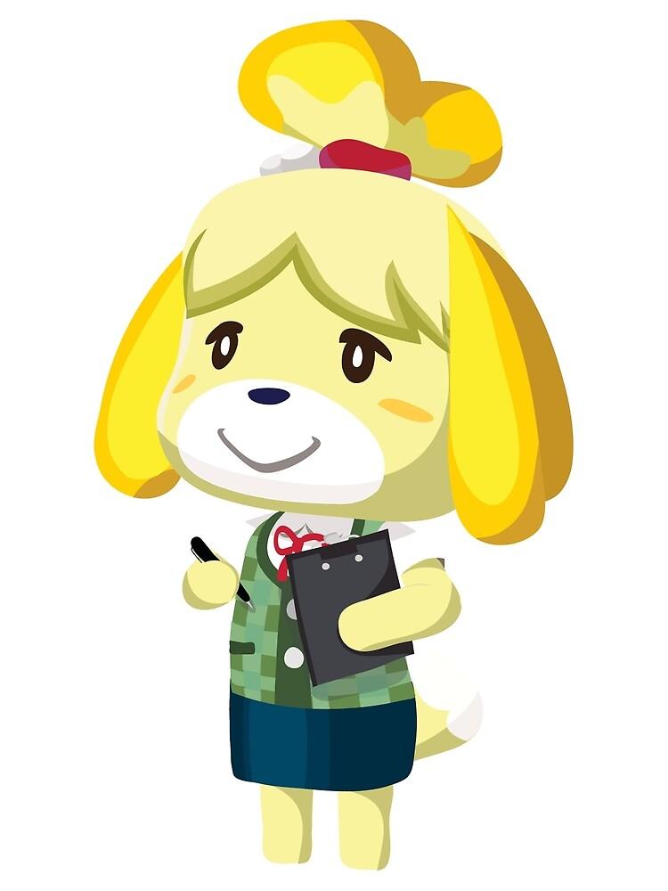 """Isabelle Animal Crossing New Leaf Vector Print"" Art Print ..."