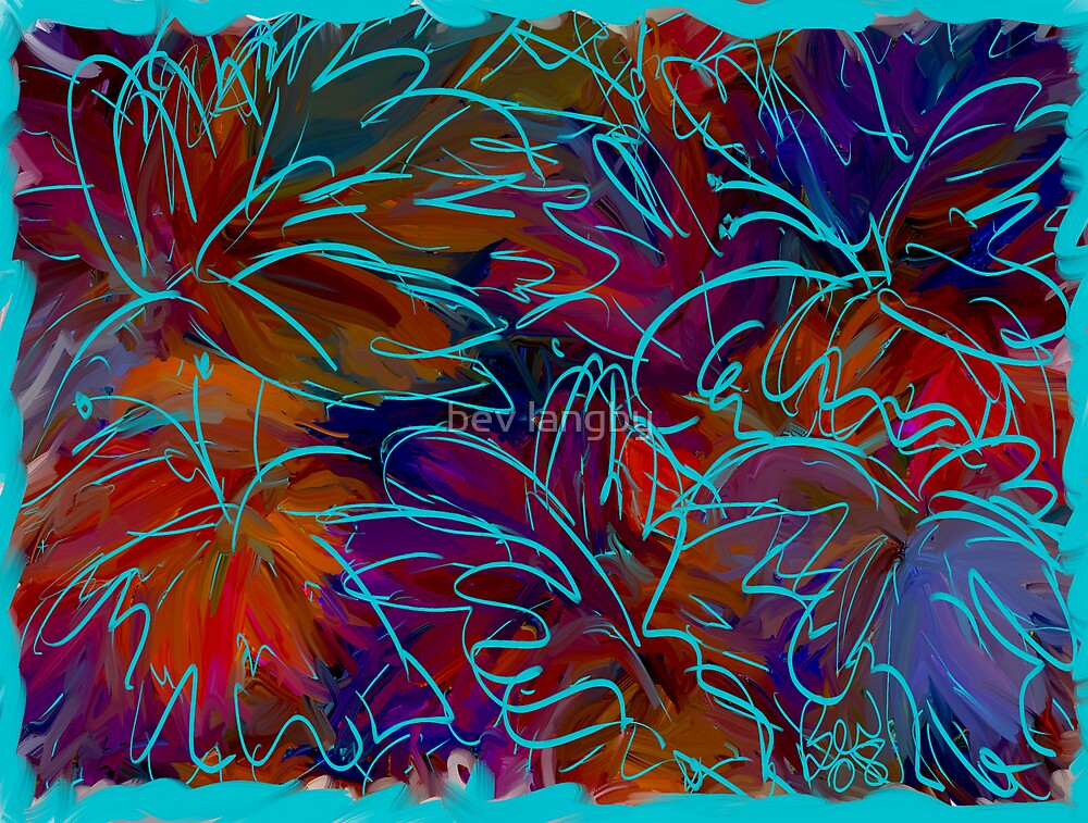 Leaves and Butterflies  by bev langby