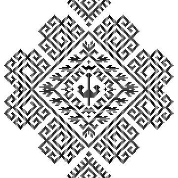 PHOENIX Romanian Folk Art Motif (MTR_D1) by GLOBEXIT
