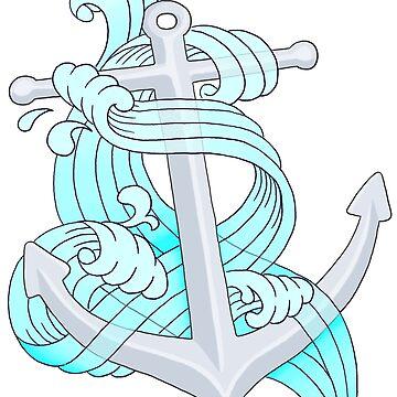 Ocean Wave Anchor by rachels1689