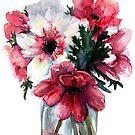 Watercolor flower by artofsuff