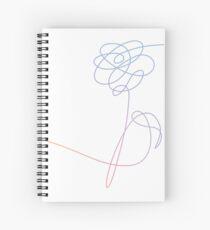 BTS Love Yourself Flower Spiral Notebook