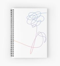 BTS Love Yourself Flower Spiral Notebook
