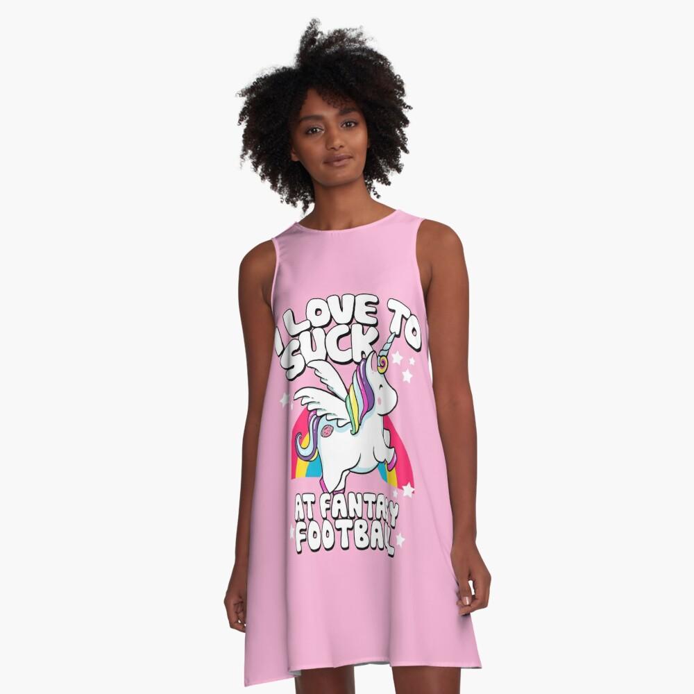 I Suck At Fantasy Football Loser Unicorn A-Line Dress