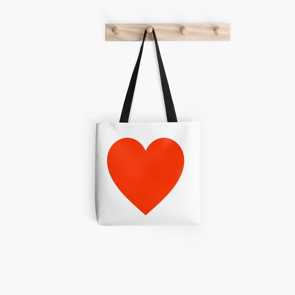 Red and White Heart Reversible Market Bag