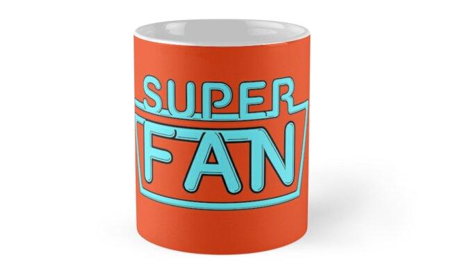 Super Fan - Neon logo (blue) by tvcream