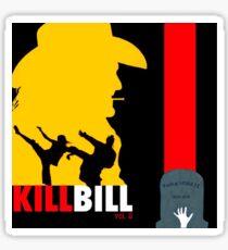 Kill Bill vol. 2: square minimalist movie poster Sticker