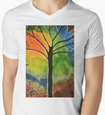 Sun Rise in the West Men's V-Neck T-Shirt