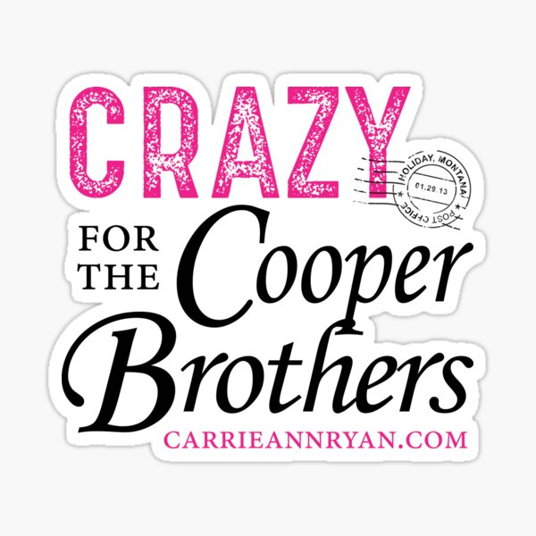 Crazy for Cooper Brothers (LIGHT) Sticker