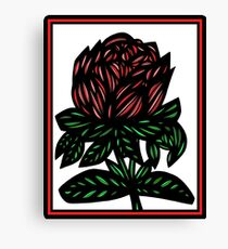 Mythopoeic Flowers Red Green White Canvas Print