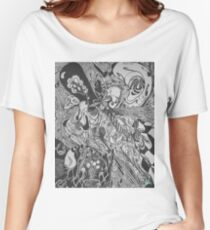 Abstract Ink Women's Relaxed Fit T-Shirt