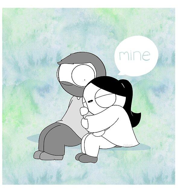 Mine - Watercolor by catanacomics