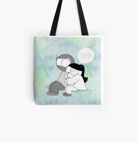 Mine - Watercolor All Over Print Tote Bag
