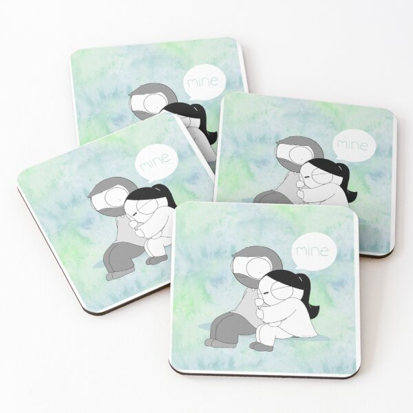 Mine - Watercolor Coasters (Set of 4)