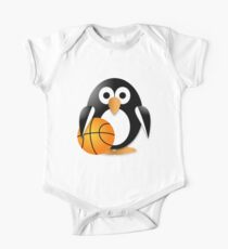 Penguin with a basketball ball One Piece - Short Sleeve