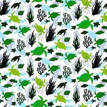 Sea Turtle Lovers Pattern by ClaudiaFlores