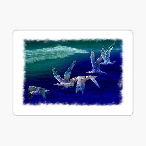 Flock of shorebirds Sticker